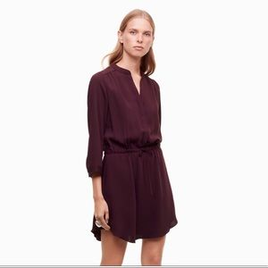 💕Aritzia BABATON Bennett 100% Silk Dress Sz M💕